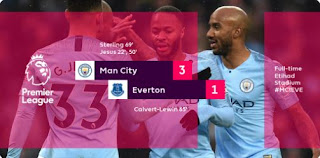 Manchester City vs Everton 3-1 Highlights