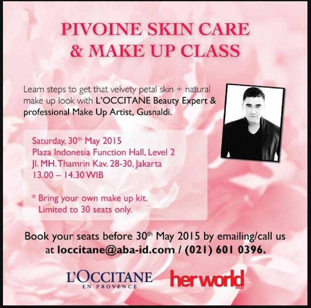 L'Occitane En Provence, Pivoine collection, make up class