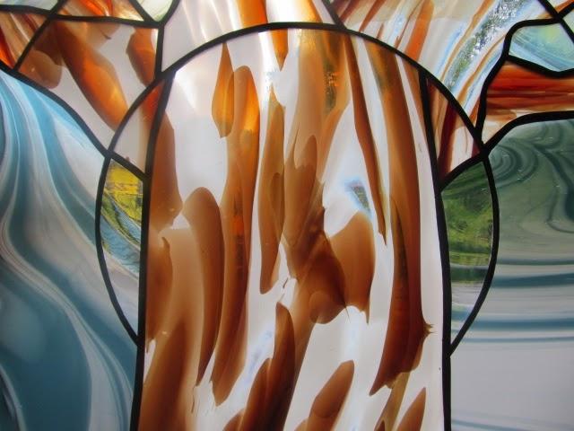 vitráž v koupelně