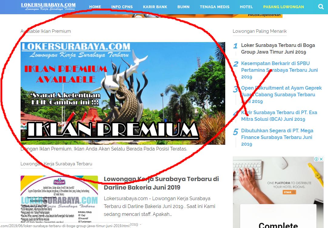 Iklan Premium Lowongan Kerja Surabaya Januari 2021 Lowongan Kerja Jawa Timur Terbaru