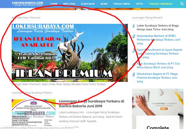 Iklan Premium - Lowongan Kerja Surabaya Januari 2021 ...