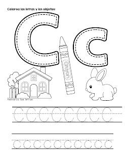 Trazos del abecedario letra c