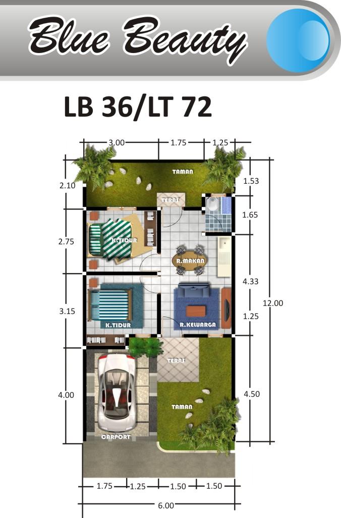 Desain Rumah Type 36 ~ Informasi Perumahan di Malang ...