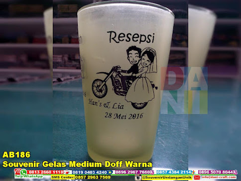 souvenir gelas medium doff warna murah