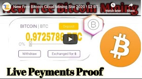 New Free Bitcoin Cloud Mining Site 2020 $2 BTC Free Bonus Earn Free Bitcoin +50 Doge Giveaway