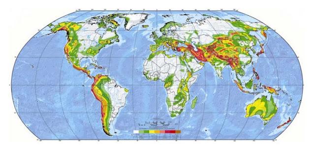 Zonas sísmicas del mundo