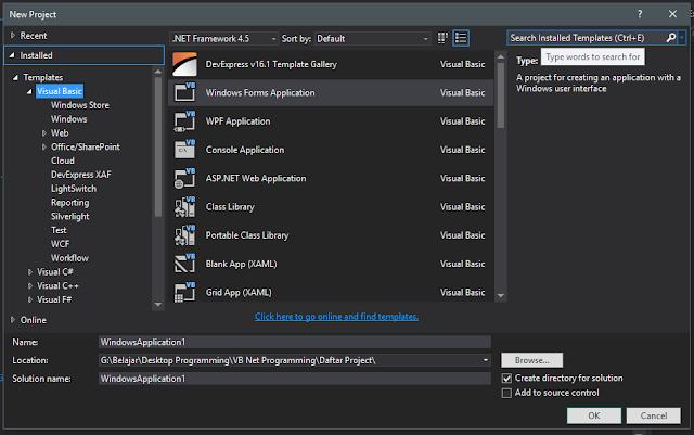 Pengenalan Visual Basic .Net