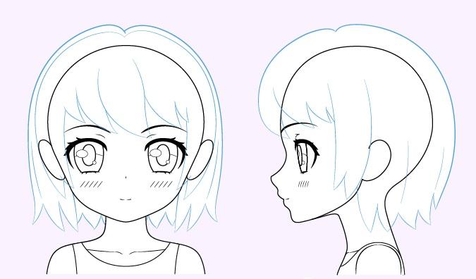 Gambar rambut gadis anime lucu