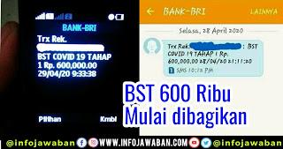 BST Sebesar Rp 600 ribu Selama 3 Bulan mulai dibagikan