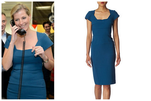 Sophie,Countess of Wessex wore a new dress by Roland Mouret for at the ICAP Charity Day 2012 in London