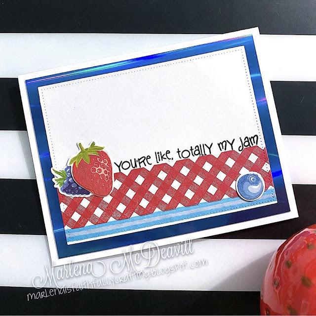 Sunny Studio Stamps: Berry Bliss Background Basics Customer Card by Marlena