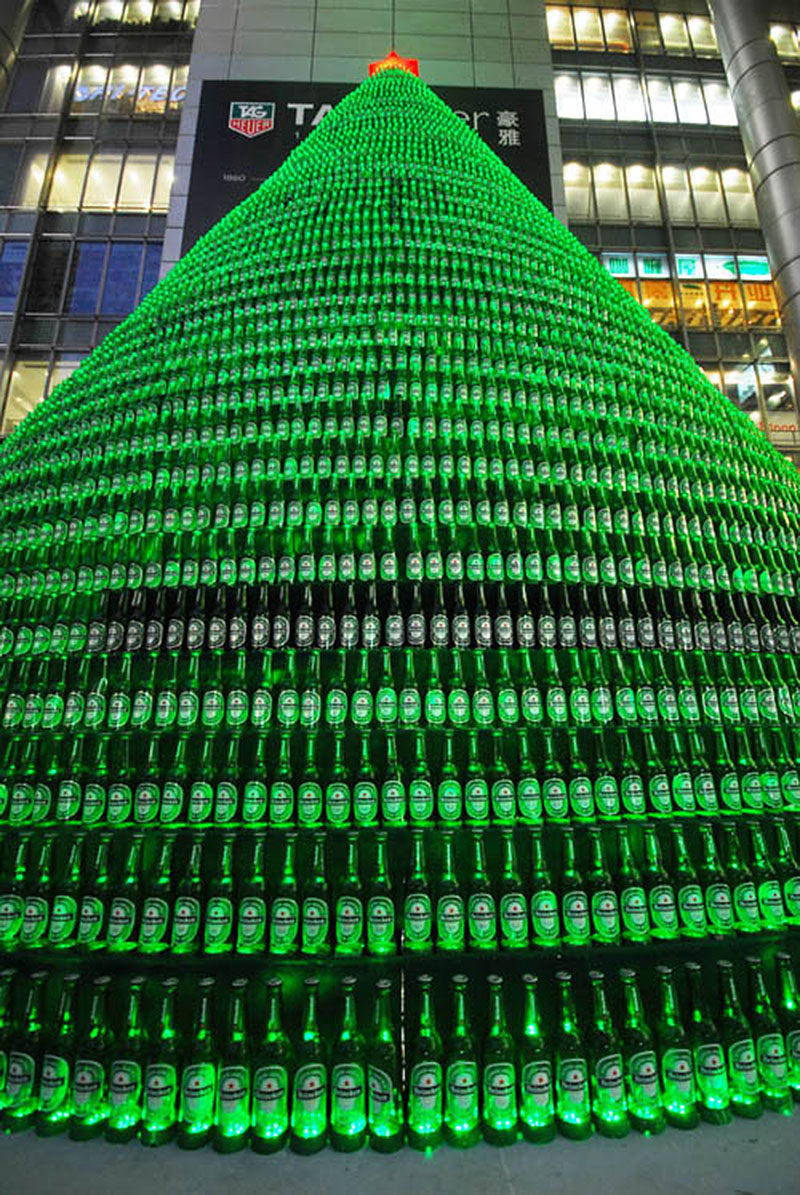 The Heineken Beer Bottle Tree (Shanghai)