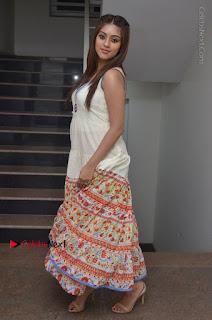 Telugu Actress Anu Emmanuel New Stills in Beautiful White Long Dress  0087.JPG