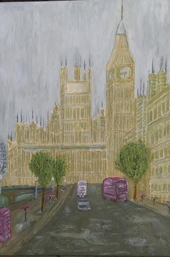 Big Ben-ulje na platnu(reljefna slika)