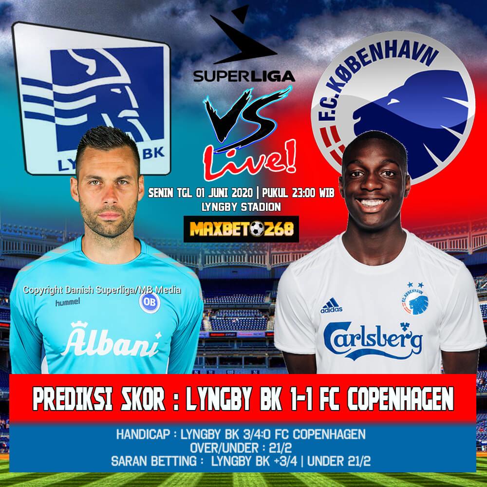 Prediksi Bola Lyngby BK Vs FC Copenhagen 01 Juni 2020 Pukul 23.00 WIB