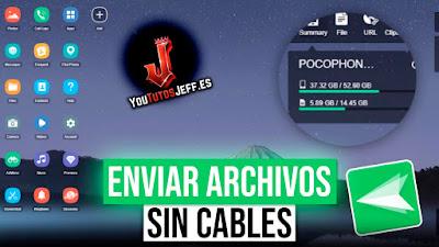 Como Enviar Archivos de PC al Teléfono Sin Cables y Viceversa, Android y iOS