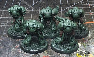 Dark Angels Heavy Intercessor Squad WIP