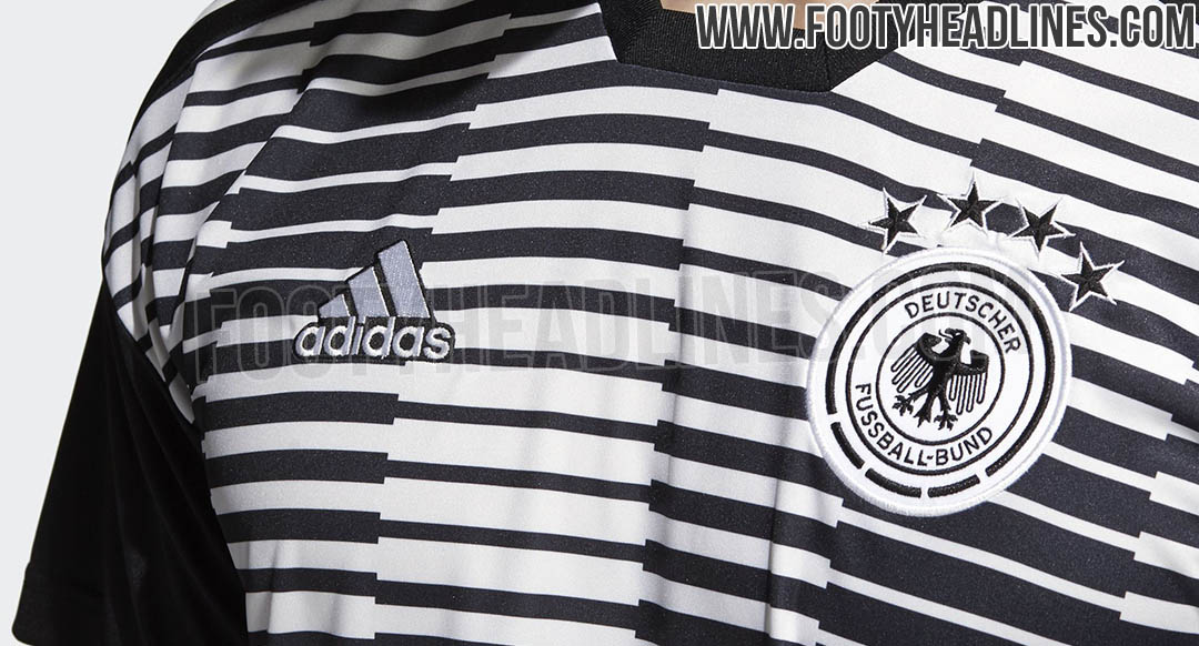 559246862 The new Germany 2018 World Cup pre-match shirt introduces an outstanding  design. It could be used for the first time in the friendly against England  but ...