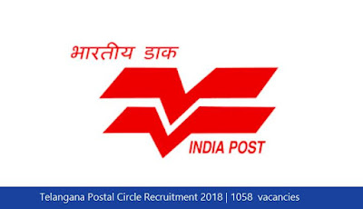 Telangana Postal Circle Recruitment 2018 | 1058  vacancies