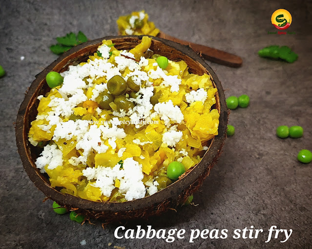 Kos pattani poriyal /curry /thoran is a sure shot item on the menu in any Tamil wedding or special occasions. During Onam and Vishu also most of the homes prepare this thoran and serve it as part of the sadhya .