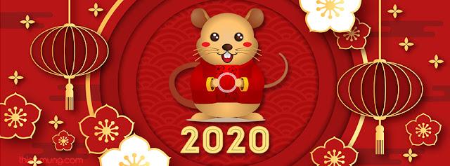 Tổng hợp các ảnh bìa Tết Canh Tý 2020 đẹp nhất, psd ảnh bìa tết nguyên đán, psd ảnh bìa 2020