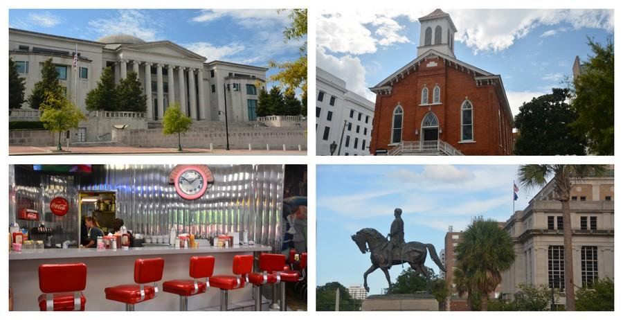 Adresses et bâtiments typiques, Sud des Etats-Unis