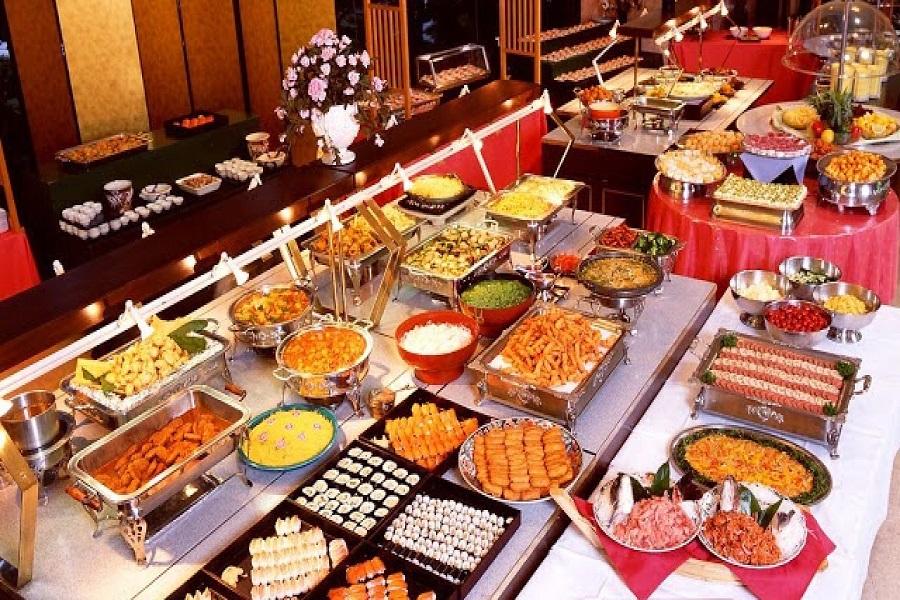 Hình tiệc buffet tại nhà hàng