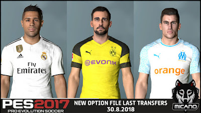 PES 2017 Next Season Patch 2019 Option File 30/08/2018 Season 2018/2019