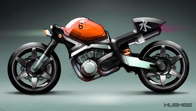 Concept Motorcycle by Hughes Studio