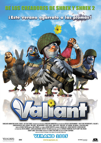 Valiant (2005) [BRrip 1080p] [Latino] [Animación]