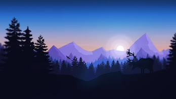 Minimalist, Nature, Forest, Mountains, Silhouette, Digital Art, 4K, #35