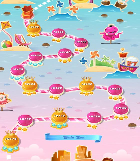 Candy Crush Saga level 10176-10190