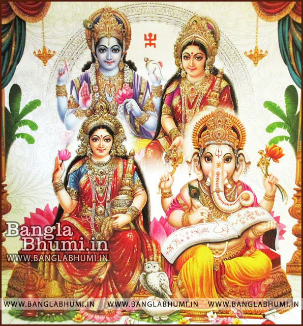 Mata Laxmi, Lord Ganesha, Shri Ram and Mata Sita Indian God HD Poster