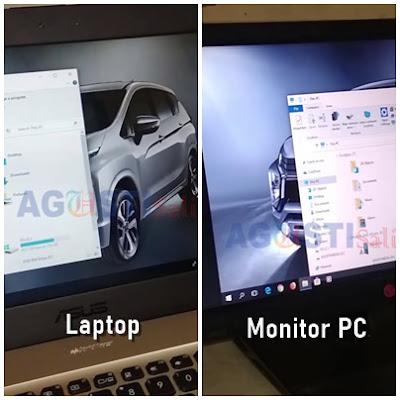 Menghubungkan tampilan di Laptop ke Monitor PC