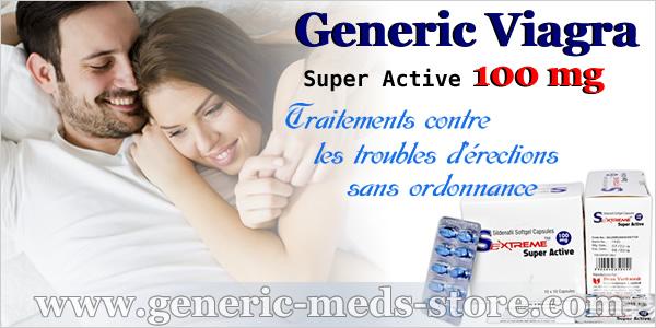 Viagra Générique Super Active 100 mg sans ordonnance sur la Pharmacie d'UE www.generic-meds-store.com