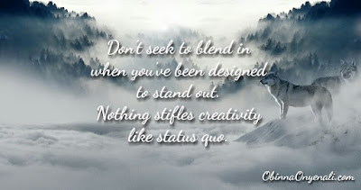 Motivational quote and article on the need to stand out from the crowd