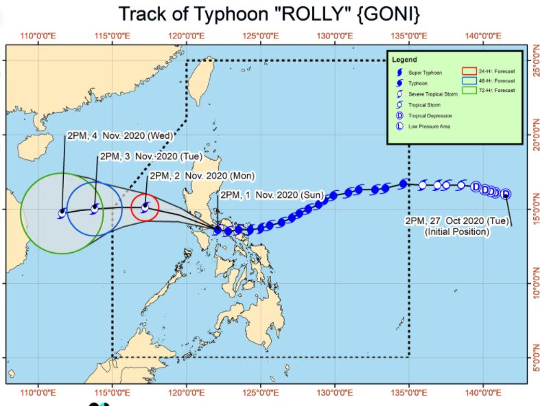 Typhoon 'Rolly' threatens Batangas-Cavite area