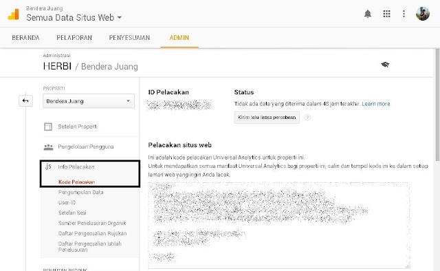 Cara memasangkan ID property Analytics dengan blogspot