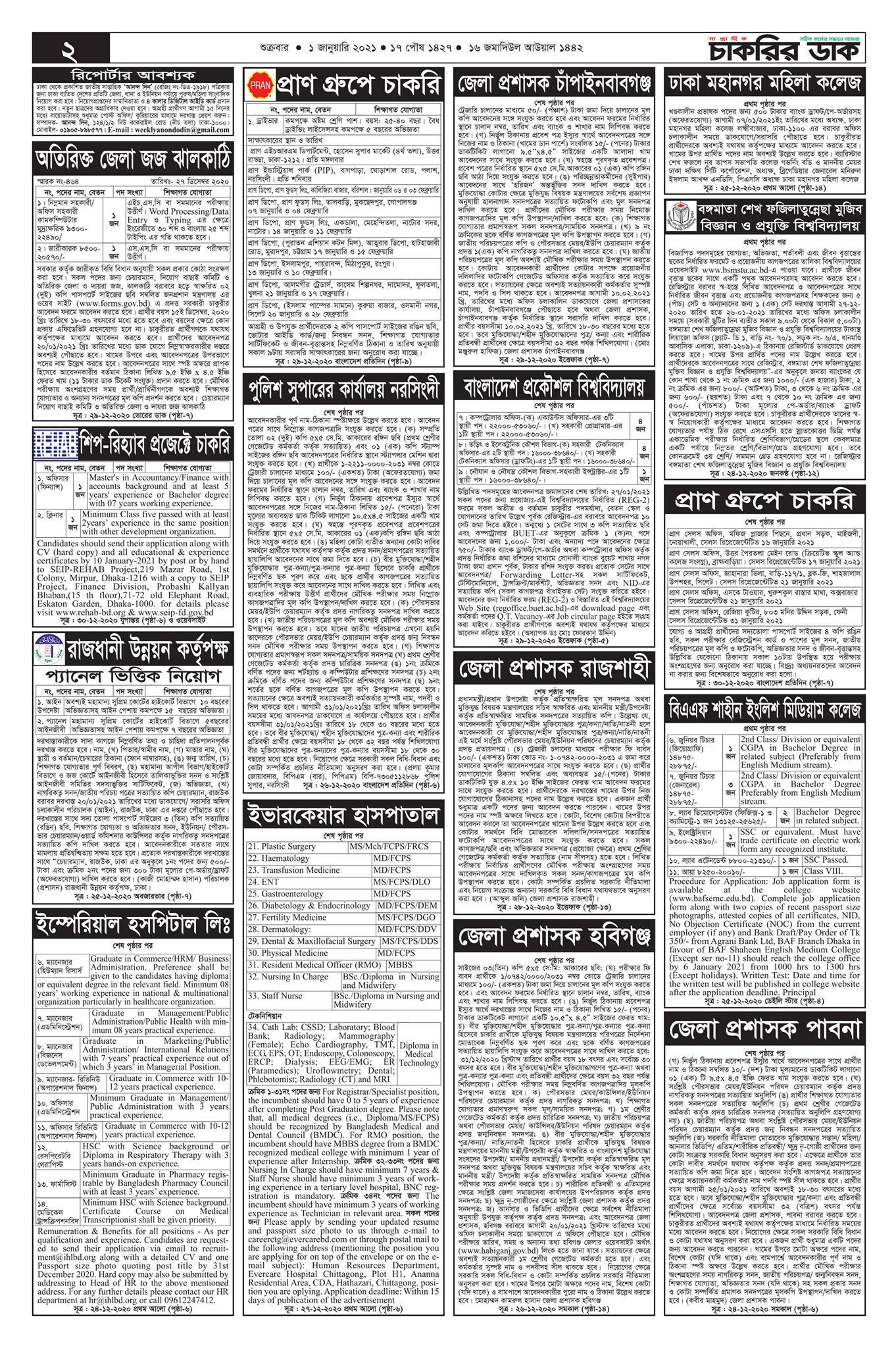 Saptahik-Chakrir-Dak-Potrika-1st-January-2021-Alljob24.com