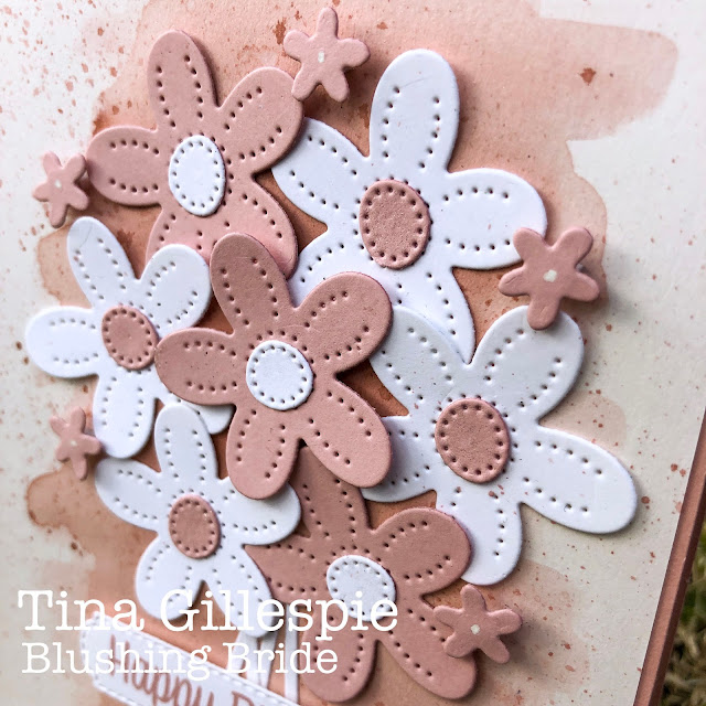 scissorspapercard, Stampin' Up!, Colour Creations, Pierced Blooms Dies, All Dressed Up Dies, Sweet As A Peach
