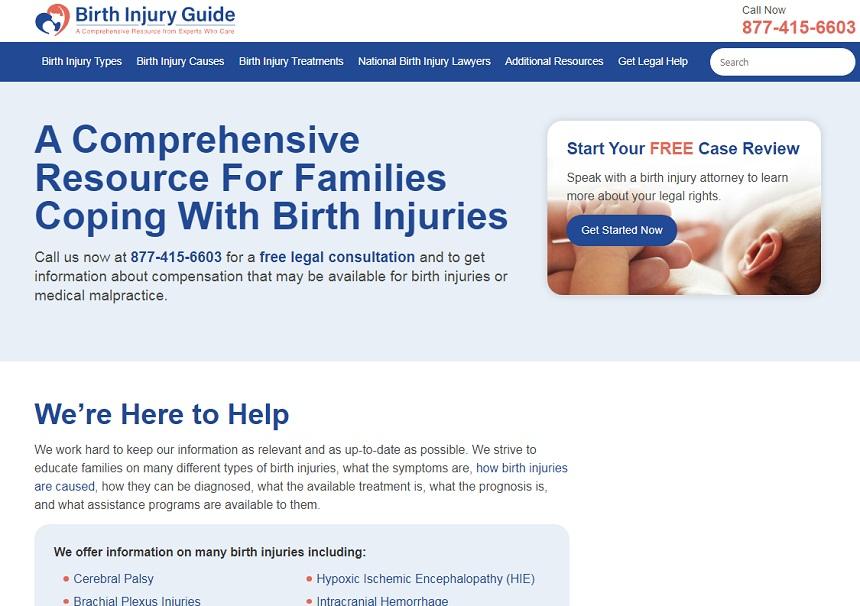 birthinjuryguide.org website.,  birth injury guide