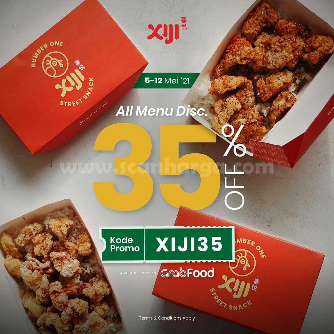 Promo XIJI Street Snack DISKON 50% All Menu via GRABFOOD
