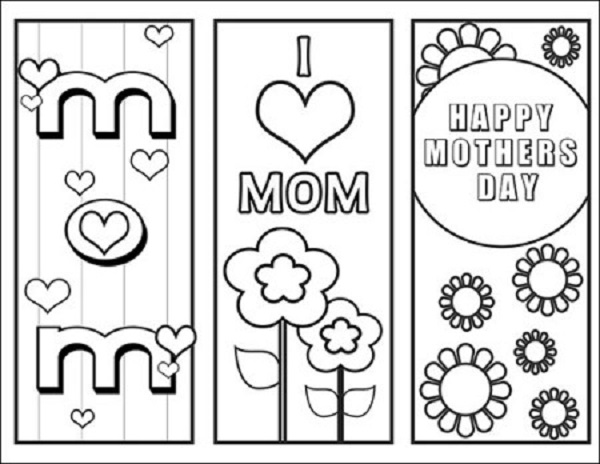 I love mom mothers day printable bookmarks.