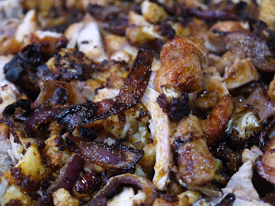 roasted chicken and cauliflower shawarma