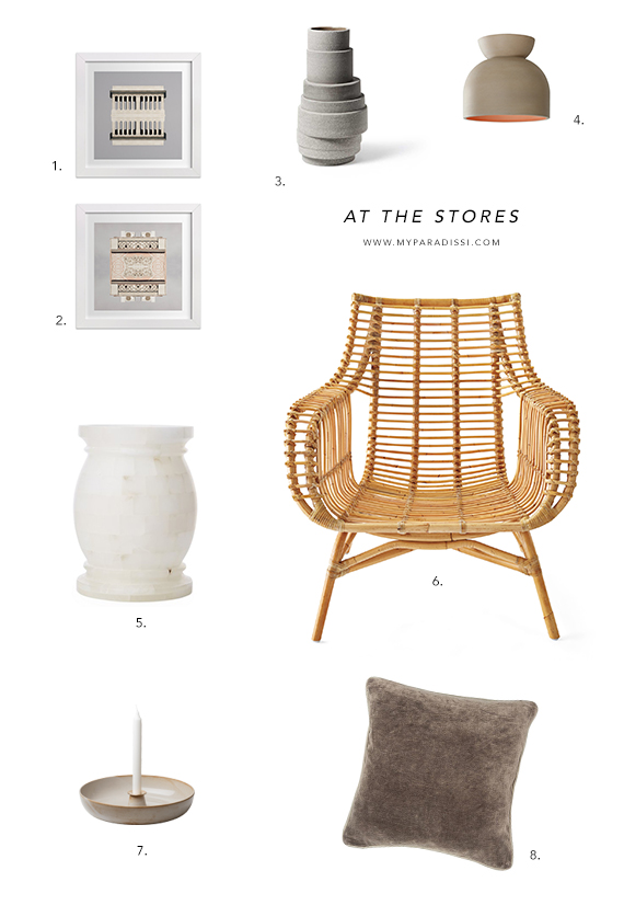 At the stores. Home decor shopping picks by My Paradissi