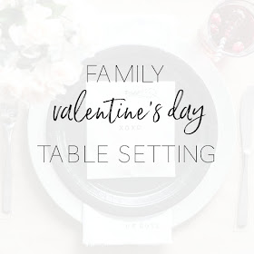 How to make family dinner special on Valentine's Day with a candy inspired and family friendly table setting. Inspired by kids and conversation hearts | personallyandrea.com