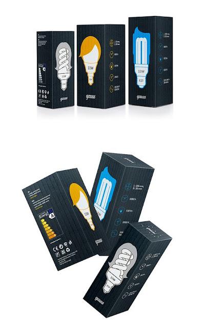 Mẫu thiết kế vỏ hộp bóng đèn siêu sáng tạo, in Hồng Hạc