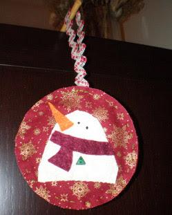 Adorno Navidad Muñeco de Nieve Christmas Ornament Snowman