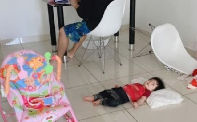 Don't want to be disturbed by his son during WFH, this father did something unexpected!