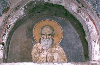Τοιχογραφία του Εμμανουήλ Πανσέληνου στο Πρωτάτο του Αγίου Όρους.